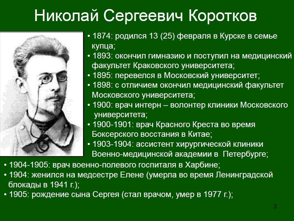 биография Короткова