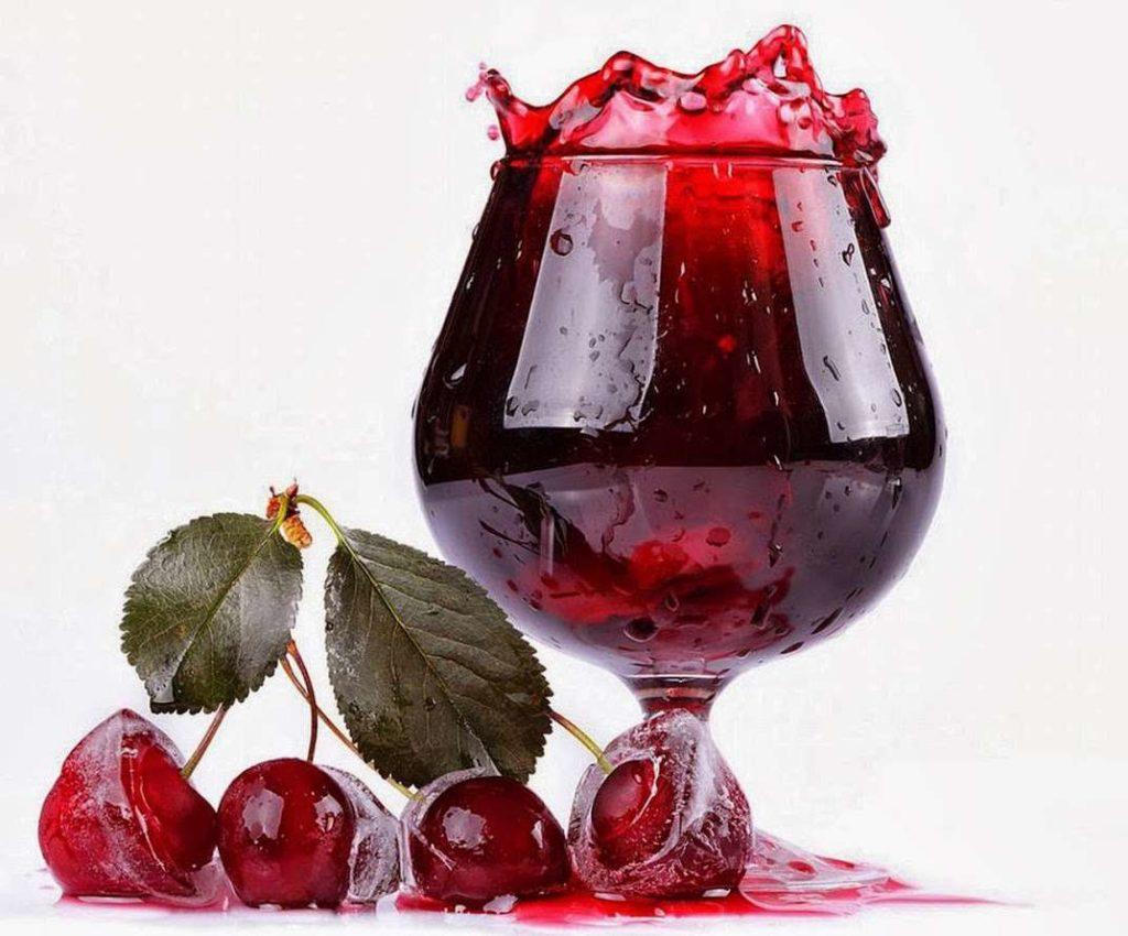 Вишневый сок при давлении