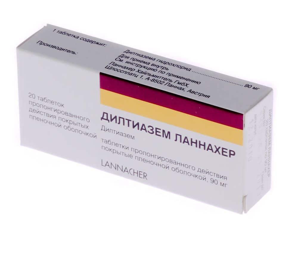Дилтиазем 60, 90, 120 мг: инструкция по применению