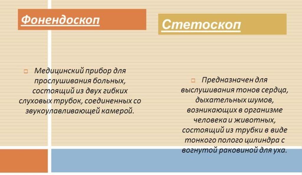 Отличия между стетоскопом и фонедоскопом
