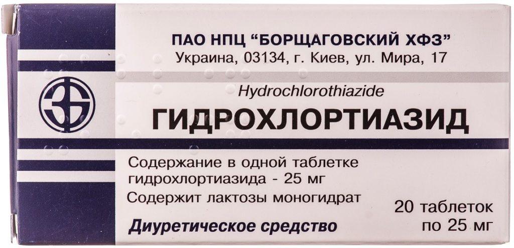 Состав Гидрохлортиазида
